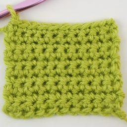 A flat piece of single crochets