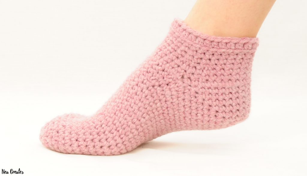 Bulky Crochet Socks Free Crochet Pattern Nea Creates