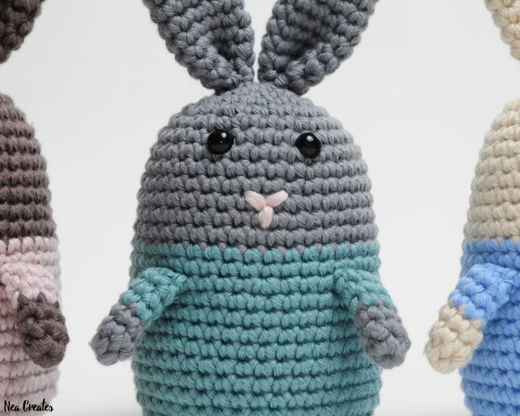 Crochet cute pink bunny amigurumi - Amigu World | 819x1024