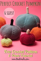 Crochet these super cute amigurumi pumpkins for Halloween using this FREE crochet pattern! Written pattern with photos for 6 different sizes! | Nea Creates