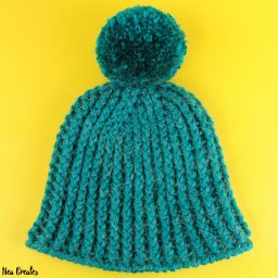 Learn how to crochet this gorgeous & warm Ribbed Winter Hat by following this FREE crochet pattern!