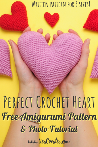 Easy Amigurumi Heart - Free Crochet Pattern - OkieGirlBling'n'Things | 512x341