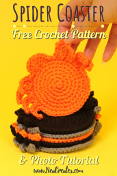 With this free crochet pattern you can make as many creepy and cute Spider Coasters as you want for Halloween! The pattern is easy too! #freecrochetpattern | Nea Creates